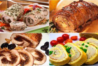 5 великолепных мясных рулетов — изысканная и вкусная закусочка для праздничного стола!