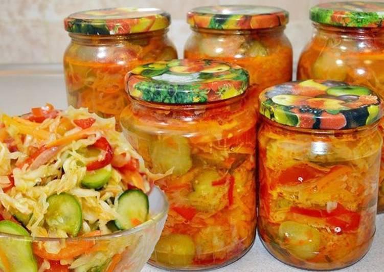 14 классных овощных салатов на зиму. Записывайте!