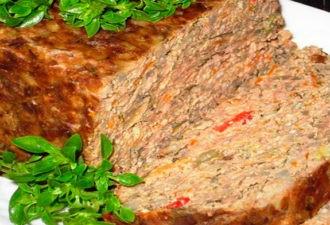 Печеночный пирог в духовке с овощами
