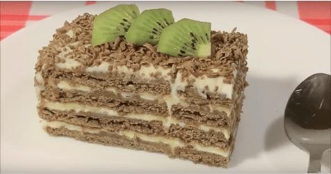 Торт без выпечки за 5 минут — очень простой и вкусный. Попробуйте!