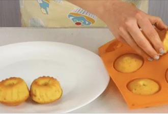Воздушные вкусные кексы. Готовятся очень просто и быстро, справится даже ребенок!