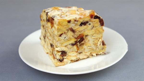 Торт без выпечки «Всегда удачный». Очень простой и вкусный!