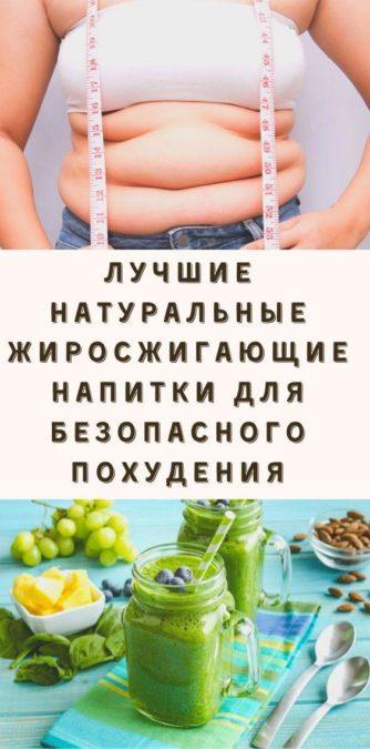 Лучшие натуральные жиросжигающие напитки для безопасного похудения