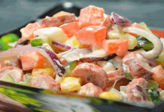 Яркий и изумительно вкусный салат «Радуга»