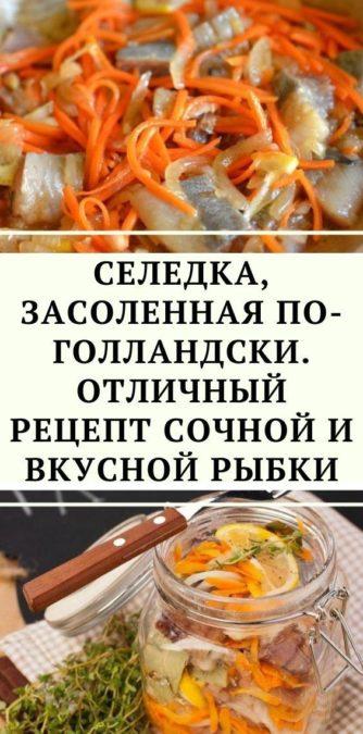 Селедка, засоленная по-голландски. Отличный рецепт сочной и вкусной рыбки