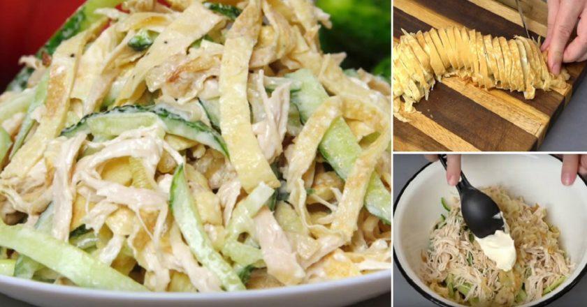 Отличная подборка салатов для тех, кто любит новые вкусы!