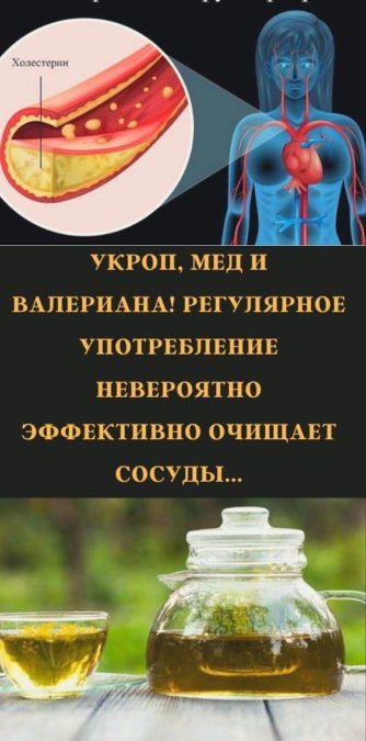 Укроп, мед и валериана! Регулярное употребление невероятно эффективно очищает сосуды...
