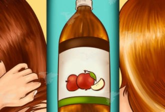 Вот как использовать яблочный уксус, чтобы быстро избавиться от выпадения, перхоти, ломкости волос и ускорить их рост!
