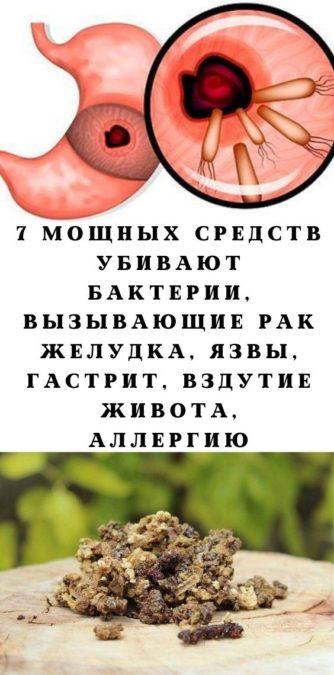 7 мощных средств убивают бактерии, вызывающие рак желудка, язвы, гастрит, вздутие живота, аллергию