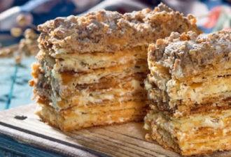 Хрустящий «Наполеон». Шикарный рецепт: быстро и вкусно!