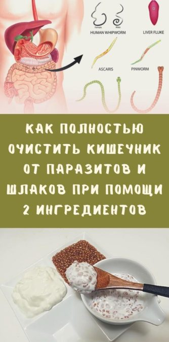 Как полностью очистить кишечник от паразитов и шлаков при помощи 2 ингредиентов