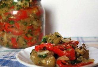Маринованный салат из баклажанов. Даже не сомневайтесь… получится очень вкусно!