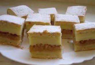 Яблочный пирог c ванильным пудингом — этот закусочный десерт украсит твой стол!