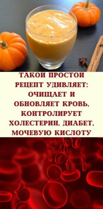 Такой простой рецепт удивляет: очищает и обновляет кровь, контролирует холестерин, диабет, мочевую кислоту
