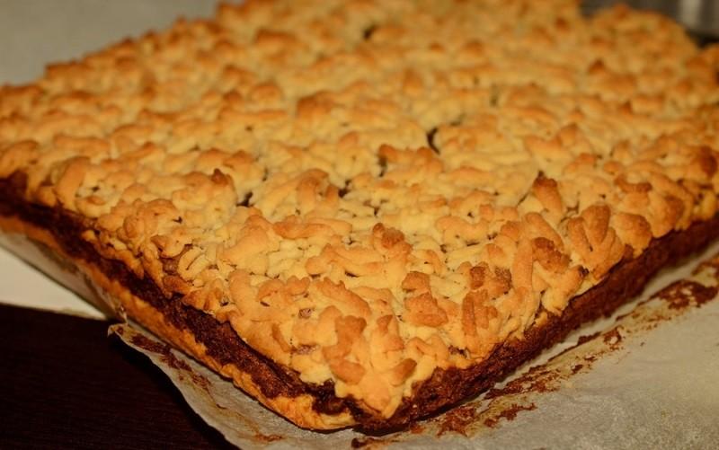 Тёртый пирог с джемом. Очень вкусный и простой десертик