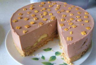ШОКОЛАДНО-БАНАНОВЫЙ торт без выпечки. Удивительно быстрый рецепт