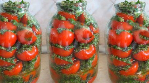 Вкусные и пикантные помидоры по-корейски в банке