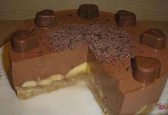 Шоколадно-банановый десерт БЕЗ ВЫПЕЧКИ. Невероятно вкусно!