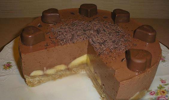 Шоколадно-банановый, который не нужно выпекать. Невероятно вкусно!