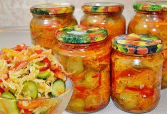 Любимый салат на зиму «Кубанский» с капустой и огурцами – хит на все времена!