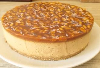 Великолепный карамельный торт без выпечки. Рекомендую всем!