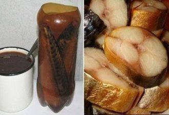 Как правильно приготовить скумбрию в бутылке - золотистая, как копчёная