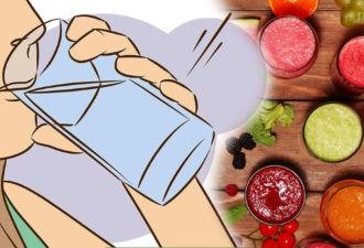 Устранить избыток жидкости, отёки и уменьшить живот всего за 1 день поможет эта простая диета!