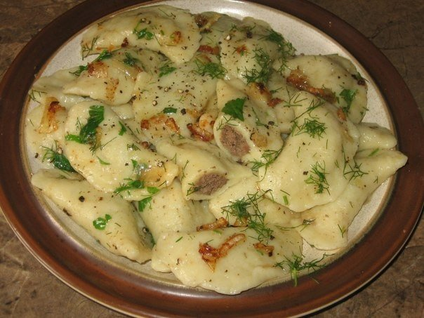 Вкуснющие картофельные вареники с куриной печенью по бабушкиному рецепту