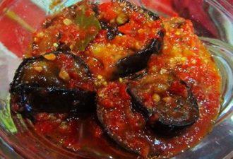 Любимый салат из баклажан на зиму Тёщин язык