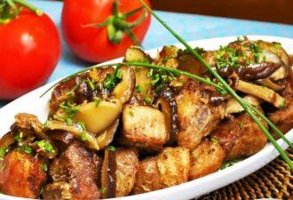 Царское жаркое из свинины с картошкой и баклажанами. Вам понравится!
