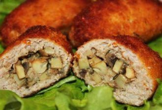 Мясные зразы с грибами и сыром в духовке - неповторимый вкус!