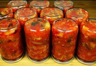 Рецепт лечо из перца и помидоров с баклажанами по-татарски