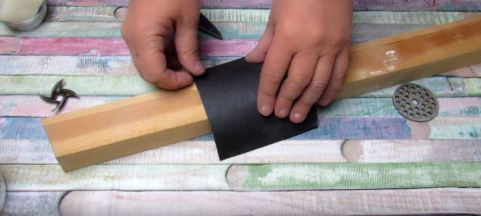 Как очень просто самому заточить ножи мясорубки