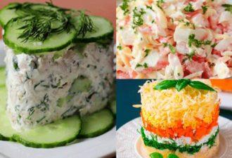 Подборка салатов, которые готовятся за 10 минут. 5 рецептов