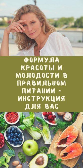 Формула красоты и молодости в правильном питании - инструкция для вас