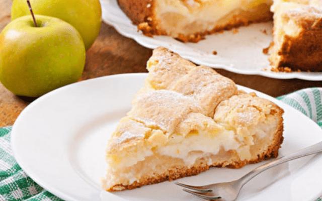 Яблочный пирог с заварным кремом - бесподобный, ароматный и нежный десерт