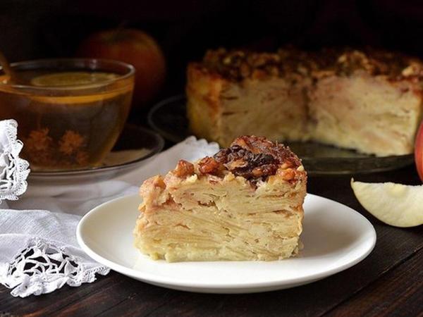 Ароматный яблочный пирог по старому рецепту наших прабабушек