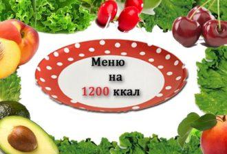 Примерный рацион питания на 1200 ккал!