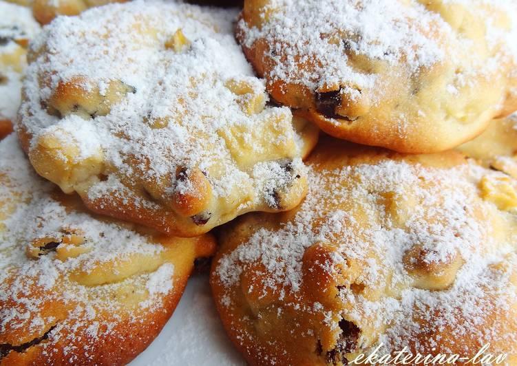 Самое быстрое печенье с яблоками
