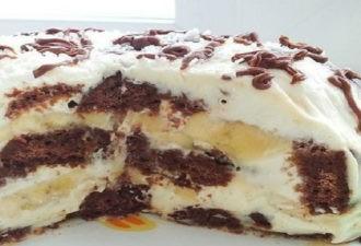 Вкусный и в меру сладкий торт без выпечки из трех ингредиентов