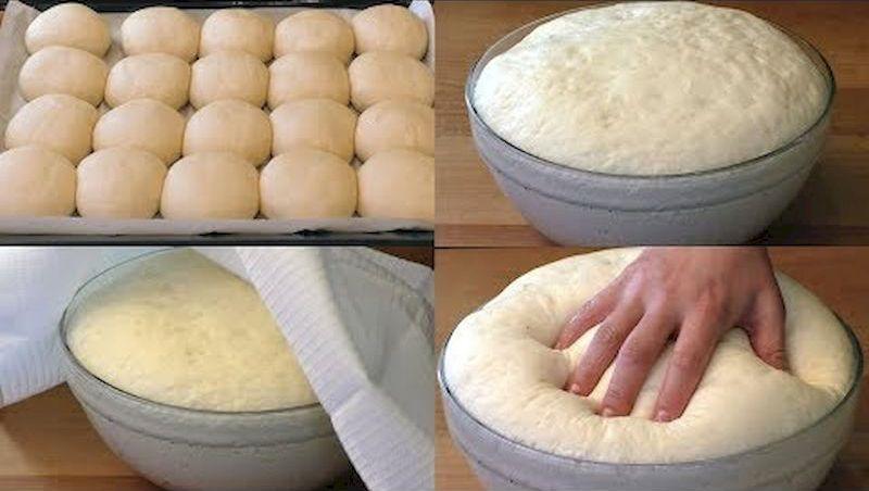 Быстрое дрожжевое тесто на воде без яиц: очень просто и удобно