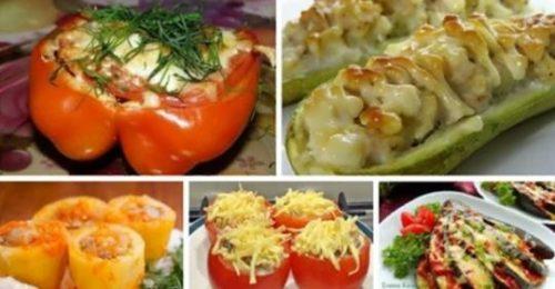 5 отменных рецептов фаршированных овощей