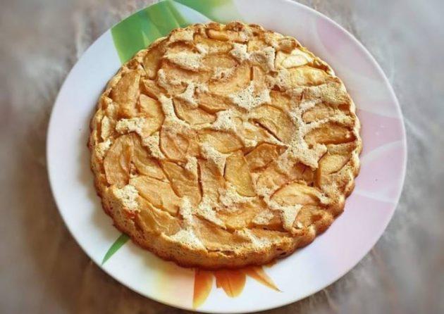 Этот диетический яблочный пирог ем каждый день и фигура не страдает. Муки в нём нет!