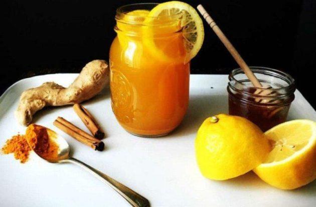 Лечение и профилактика гриппа и простуды может быть вкусной: лечебный чай из лимона, имбиря и куркумы