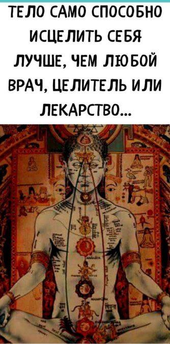 Тело само способно исцелить себя лучше, чем любой врач, целитель или лекарство...